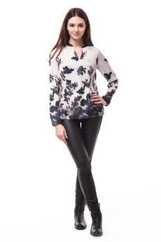 Шелковая блузка с цветочным принтом Vilatte