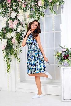 Летнее платье с цветами Angela Ricci со скидкой